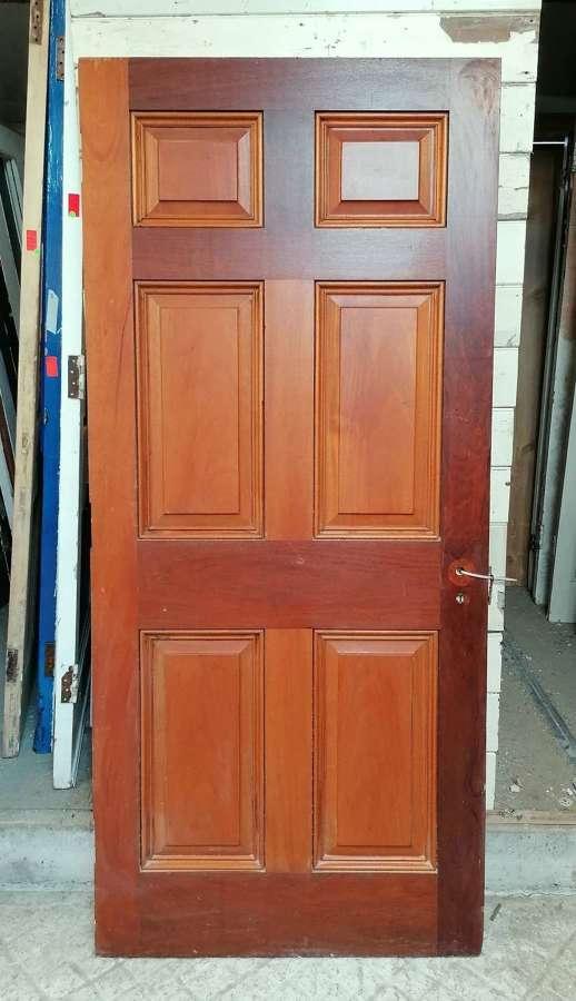 DB0691 A RECLAIMED 6 PANEL HARDWOOD INTERNAL / EXTERNAL DOOR