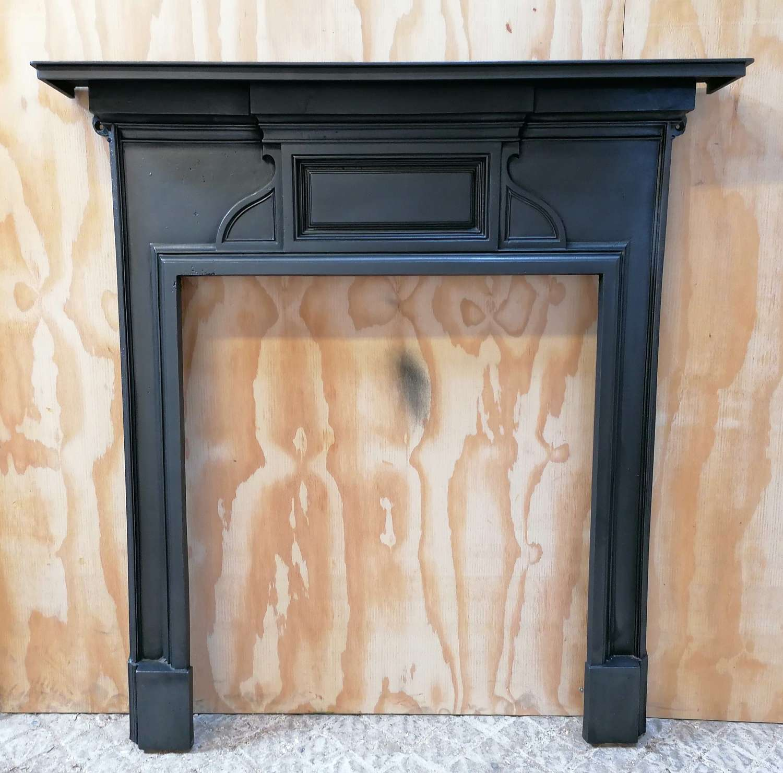FS0145 RECLAIMED VICTORIAN CASRT IRON FIRE SURROUND FOR WOOD BURNER