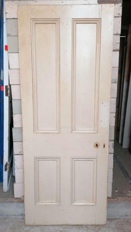 DB0692 A RECLAIMED 4 PANEL PINE INTERNAL / EXTERNAL DOOR