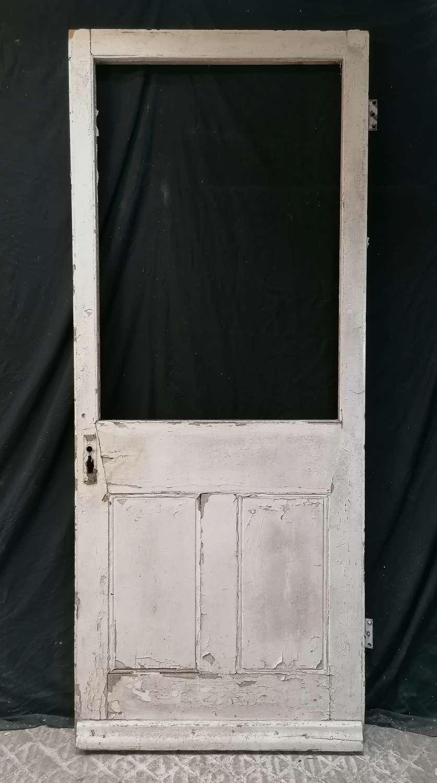 DB0693 A VICTORIAN PINE INTERNAL / EXTERNAL DOOR FOR GLAZING