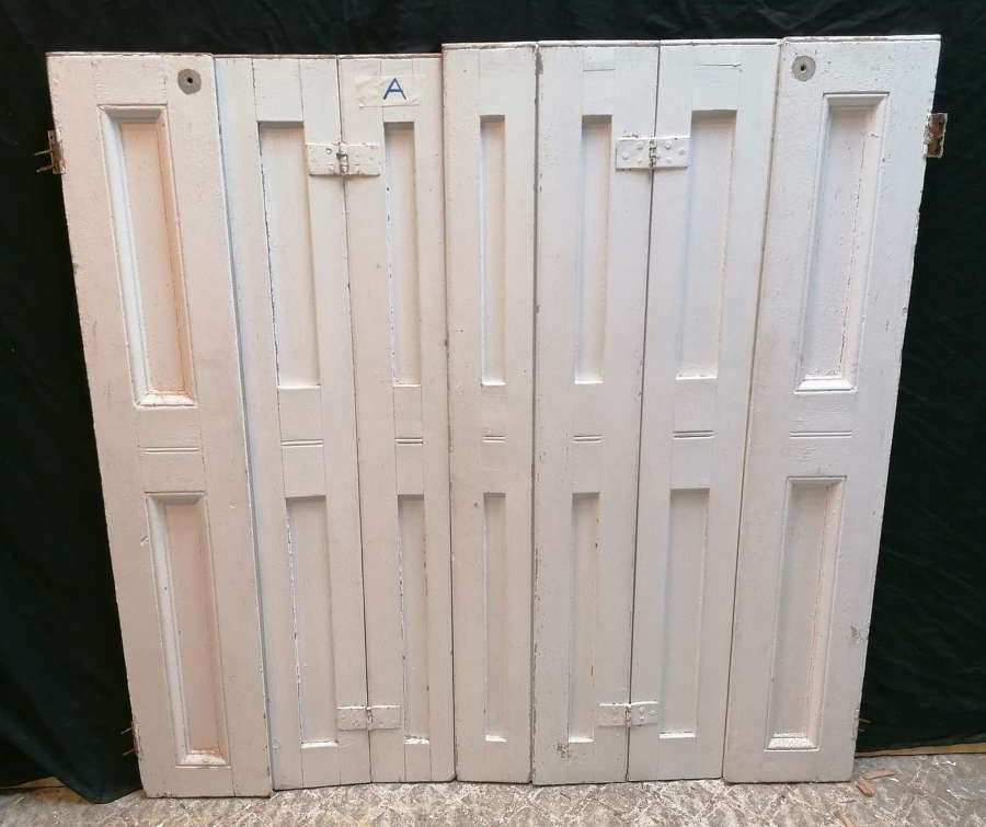 CS0044 RECLAIMED PAINTED PINE SET OF 7 SHUTTERS - 2 SETS - SOLD SEP