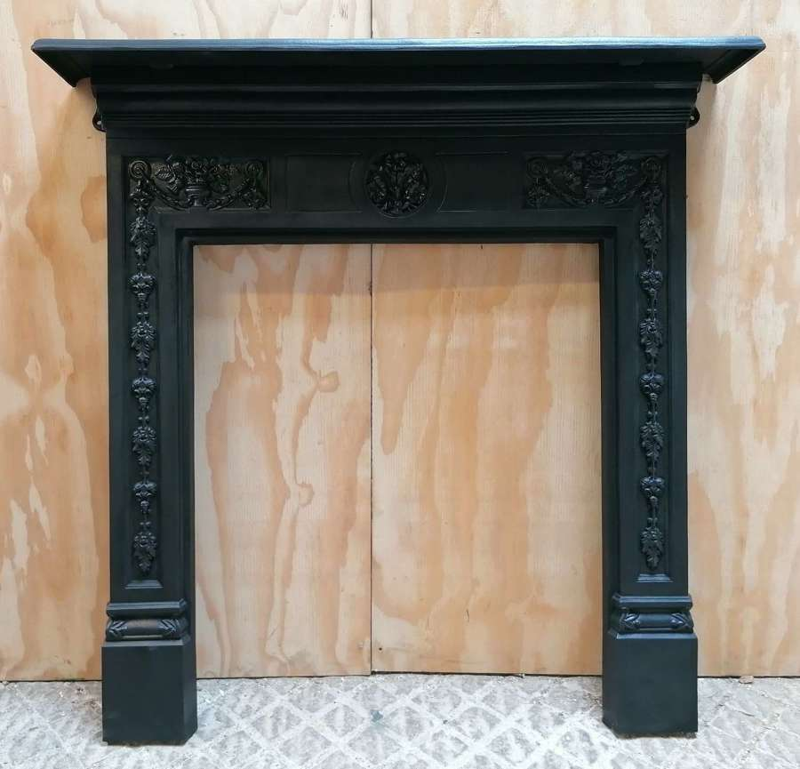 FS0148 REPRODUCTION STOVAX CAST IRON FIRE SURROUND / WOOD BURNER
