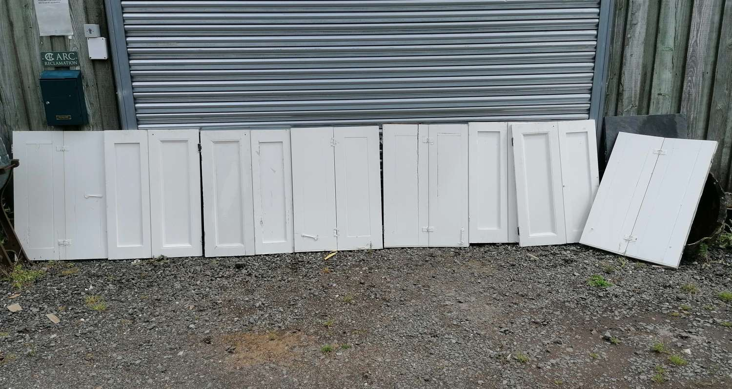 CS0046 RECLAIMED PAINTED PINE SHUTTERS - 4 PAIRS SOLD SEPERATELY