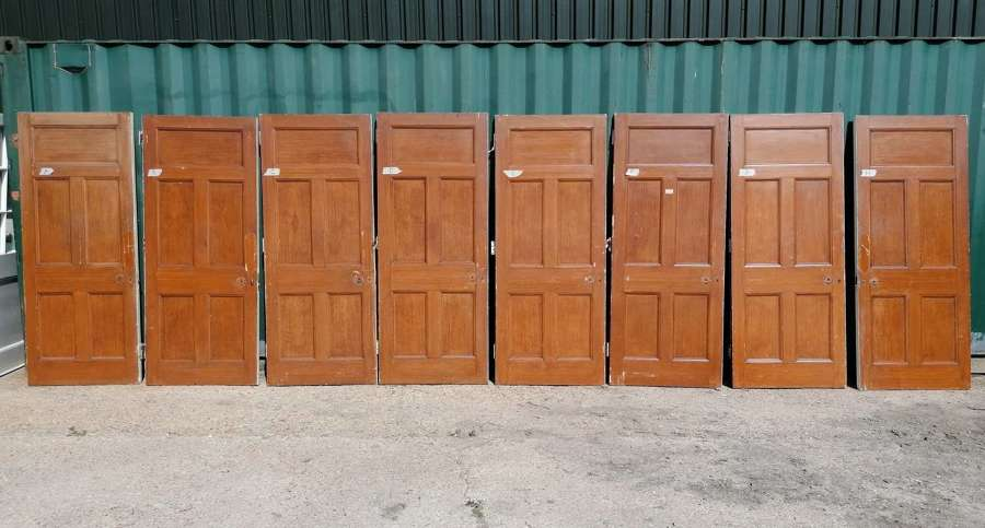 DI0748 RECLAIMED 5 PANEL PINE INTERNAL DOORS - 8 AVAILABLE SOLD SEP