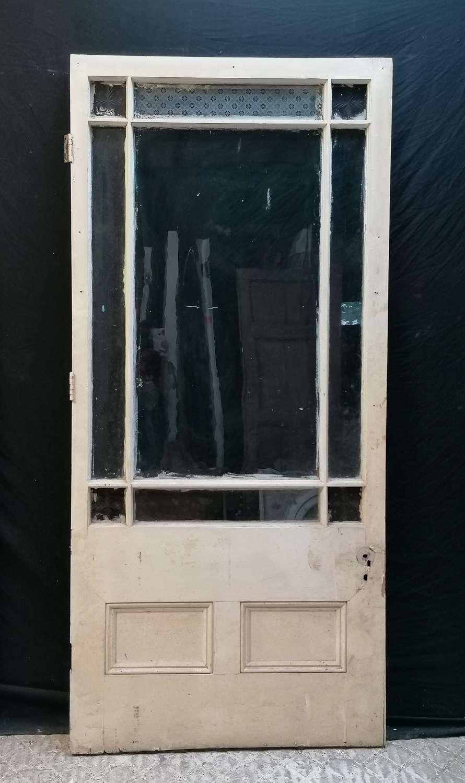 DI0745 A RECLAIMED ANTIQUE INTERNAL GLAZED CARDIFF DOOR