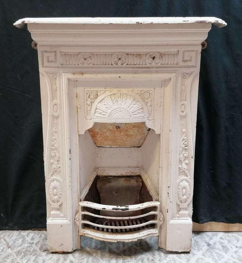 FC0131 A RECLIMED ART NOUVEAU CAST IRON BEDROOM COMBINATION FIRE