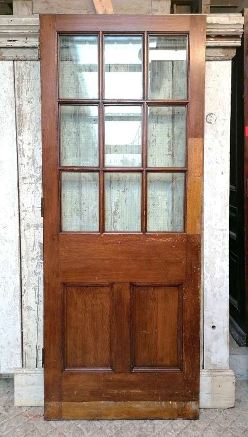 DB0704 A RECLAIMED OAK INTERNAL / EXTERNAL GLAZED DOOR