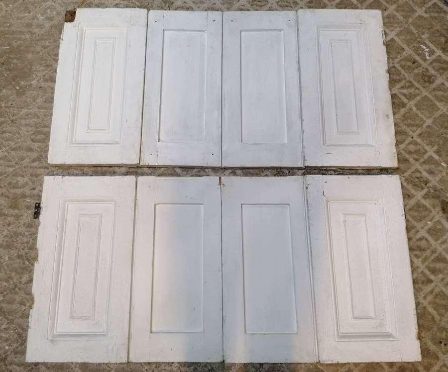 CS0069 SET OF SMALL VICTORIAN PINE WINDOW SHUTTERS FOR CUPBORD DOORS