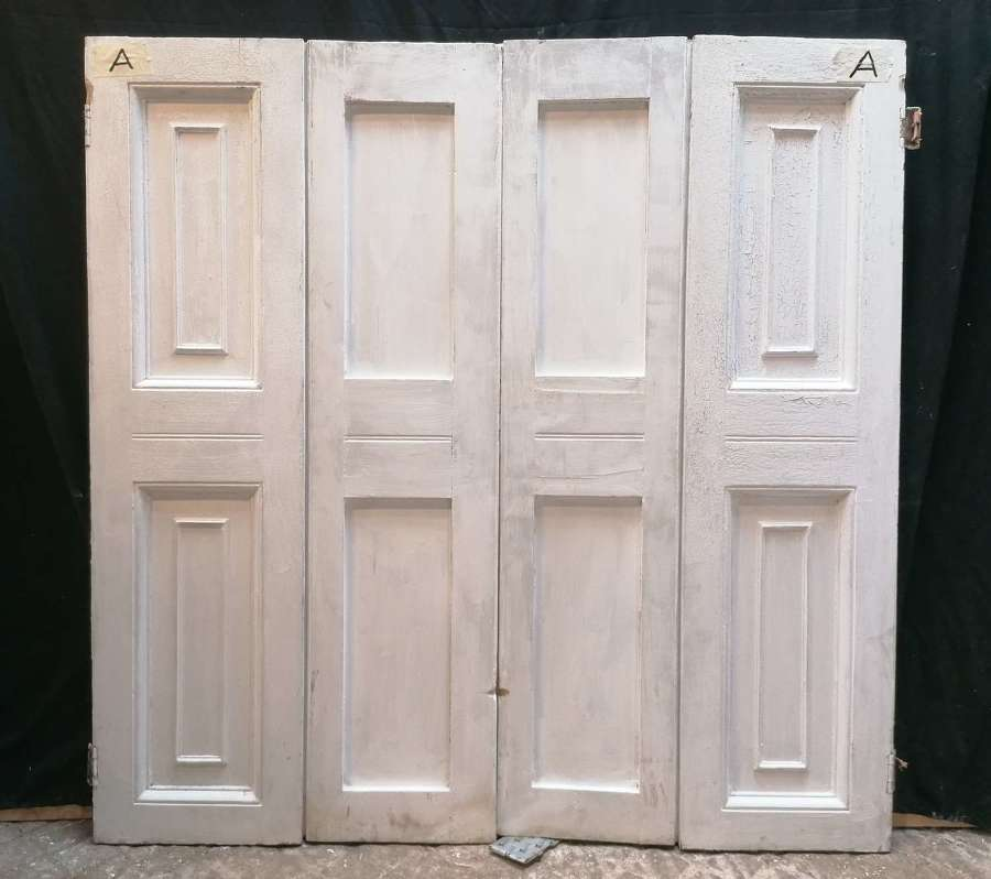 CS0068a A PAIR OF VICTORIAN PAINTED PINE SHUTTERS